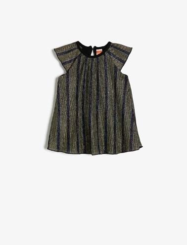 Koton Kids Çizgili Elbise Siyah